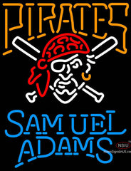 Samual Adams Single Line Pittsburgh Pirates MLB Neon Sign
