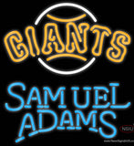 Samual Adams Single Line San Francisco Giants MLB Real Neon Glass Tube Neon Sign