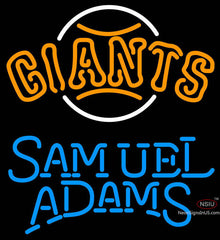 Samual Adams Single Line San Francisco Giants MLB Neon Sign