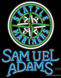 Samual Adams Single Line Seattle Mariners MLB Real Neon Glass Tube Neon Sign