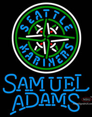 Samual Adams Single Line Seattle Mariners MLB Neon Sign