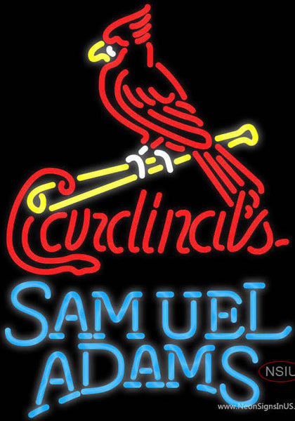 Samual Adams Single Line St Louis Cardinals MLB Real Neon Glass Tube Neon Sign
