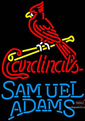 Samual Adams Single Line St Louis Cardinals MLB Neon Sign