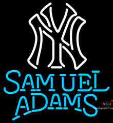 Samual Adams Single Line White MLB Neon Sign   x