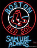Samuel Adams Boston Red Sox MLB Real Neon Glass Tube Neon Sign