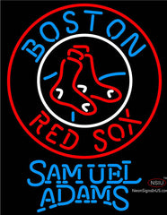 Samuel Adams Boston Red Sox MLB Neon Sign