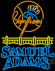 Samuel Adams Bubble Line Logo New York Yankees Neon Sign