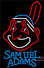 Samuel Adams Cleveland Indians MLB Neon Sign