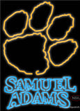 Samuel Adams Double Line Clemson UNIVERSITY Tiger Print Real Neon Glass Tube Neon Sign