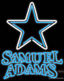 Samuel Adams Double Line Dallas Cowboys NFL Real Neon Glass Tube Neon Sign