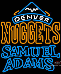 Samuel Adams Double Line Denver Nuggets NBA Neon Sign