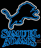 Samuel Adams Double Line Detroit Lions NFL Neon Sign