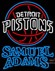 Samuel Adams Double Line Detroit Pistons NBA Neon Sign