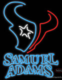 Samuel Adams Double Line Houston Texans NFL Real Neon Glass Tube Neon Sign