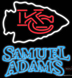 Samuel Adams Double Line Kansas City Chiefs NFL Real Neon Glass Tube Neon Sign