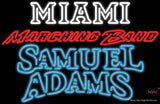 Samuel Adams Double Line Miami UNIVERSITY Band Board Real Neon Glass Tube Neon Sign