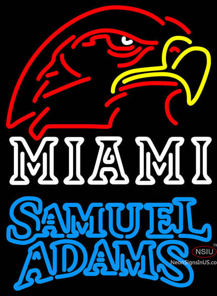 Samuel Adams Double Line Miami UNIVERSITY Fall Session Neon Sign