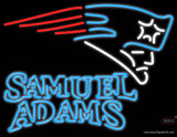 Samuel Adams Double Line New England Patriots NFL Real Neon Glass Tube Neon Sign