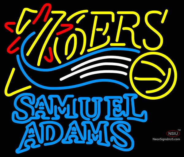 Samuel Adams Double Line Philadelphia 7ers NBA Neon Sign