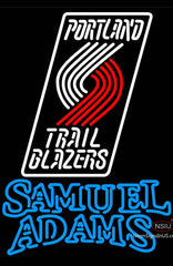 Samuel Adams Double Line Portland Trail Blazers NBA Neon Sign
