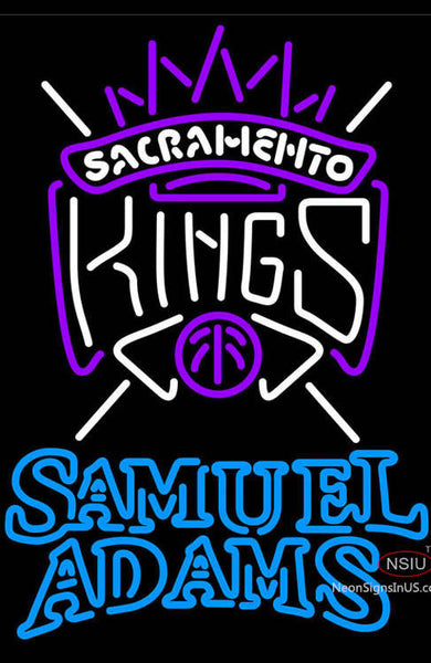 Samuel Adams Double Line Sacramento Kings NBA Neon Sign