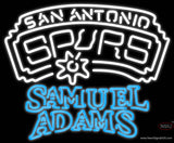 Samuel Adams Double Line San Antonio Spurs NBA Real Neon Glass Tube Neon Sign