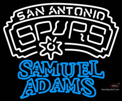 Samuel Adams Double Line San Antonio Spurs NBA Neon Sign