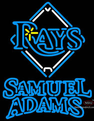 Samuel Adams Double Line Tampa Bay Rays MLB Neon Sign