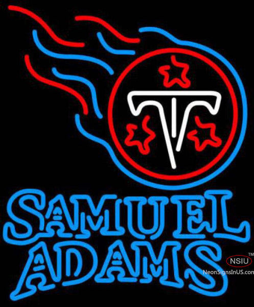 Samuel Adams Double Line Tennessee Titans NFL Neon Sign