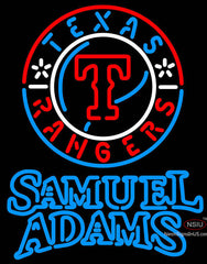 Samuel Adams Double Line Texas Rangers MLB Neon Sign