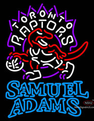 Samuel Adams Double Line Toronto Raptors NBA Neon Sign
