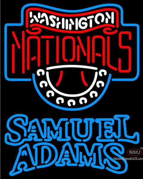Samuel Adams Double Line Washington Nationals MLB Neon Sign