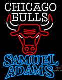 Samuel Adams Double Line Chicago Bulls NBA Neon Sign