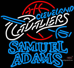 Samuel Adams Double Line Cleveland Cavaliers NBA Neon Sign