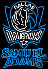 Samuel Adams Double Line Dallas Mavericks NBA Neon Sign