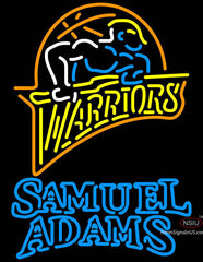 Samuel Adams Double Line Golden St Warriors NBA Neon Sign