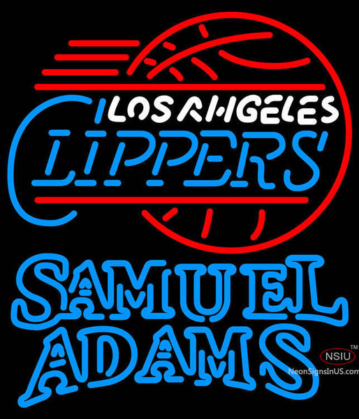 Samuel Adams Double Line Los Angeles Clippers NBA Neon Sign