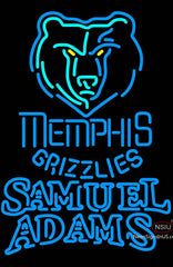 Samuel Adams Double Line Memphis Grizzlies NBA Neon Sign