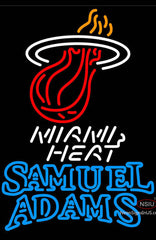 Samuel Adams Double Line Miami Heat NBA Neon Sign