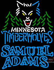 Samuel Adams Double Line Minnesota Timber Wolves NBA Neon Sign