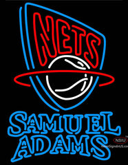 Samuel Adams Double Line New Jersey Nets NBA Neon Sign