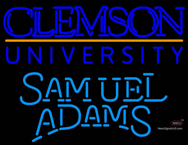 Samuel Adams Single Line Clemson UNIVERSITY Neon Sign