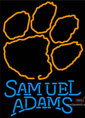 Samuel Adams Single Line Clemson UNIVERSITY Tiger Print Neon Sign