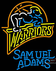 Samuel Adams Single Line Golden St Warriors NBA Neon Sign