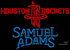 Samuel Adams Single Line Houston Rockets NBA Neon Sign
