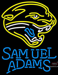 Samuel Adams Single Line Jacksonville Jaguars NFL Neon Sign