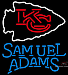 Samuel Adams Single Line Kansas City Chiefs NFL Neon Sign   x