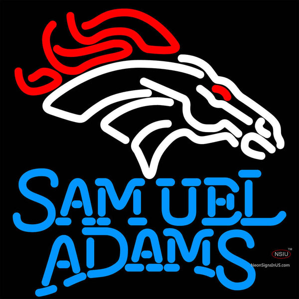 Samuel Adams Single Line Logo Denver Broncos NFL Beer Neon Sign x