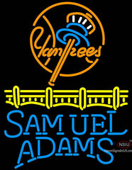 Samuel Adams Single Line Logo New York Yankees Neon Sign