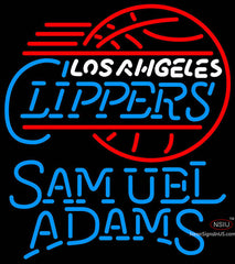 Samuel Adams Single Line Los Angeles Clippers NBA Neon Sign